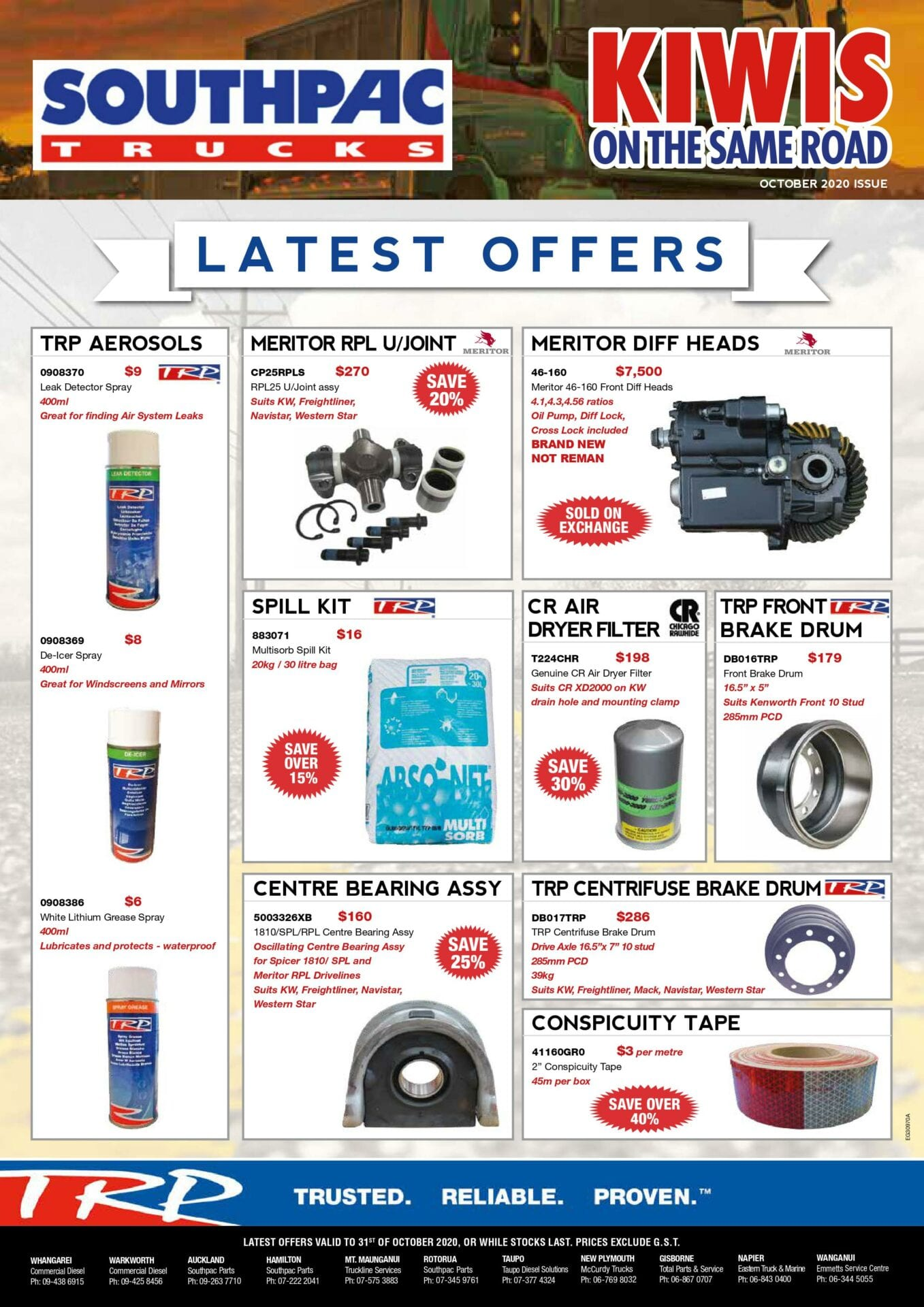 LATEST OFFERS advert – October 2020 (pg1)