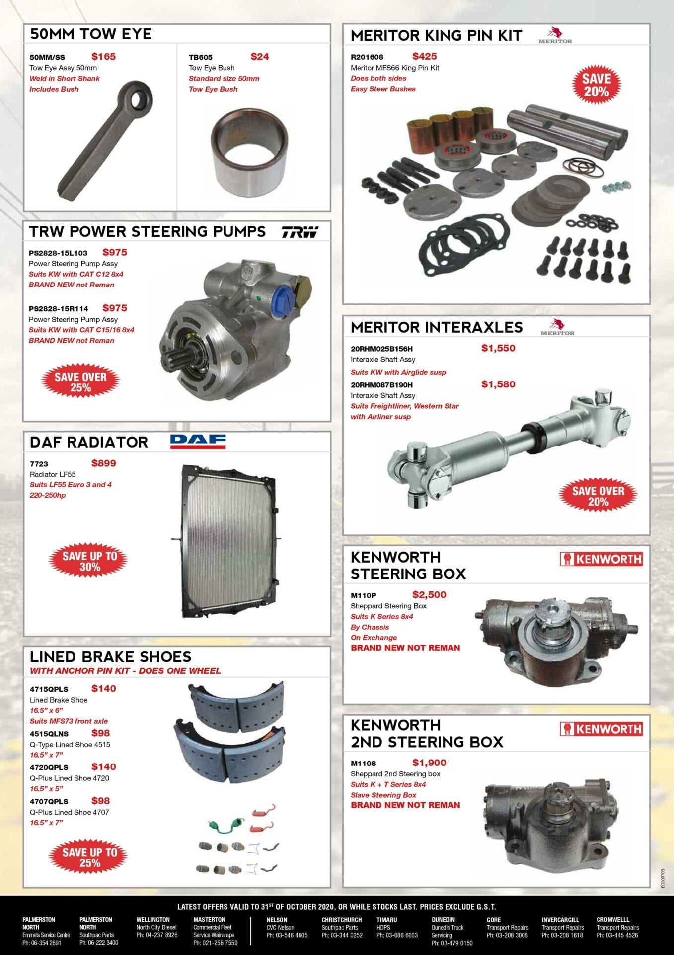 LATEST OFFERS advert – October 2020 (pg2)