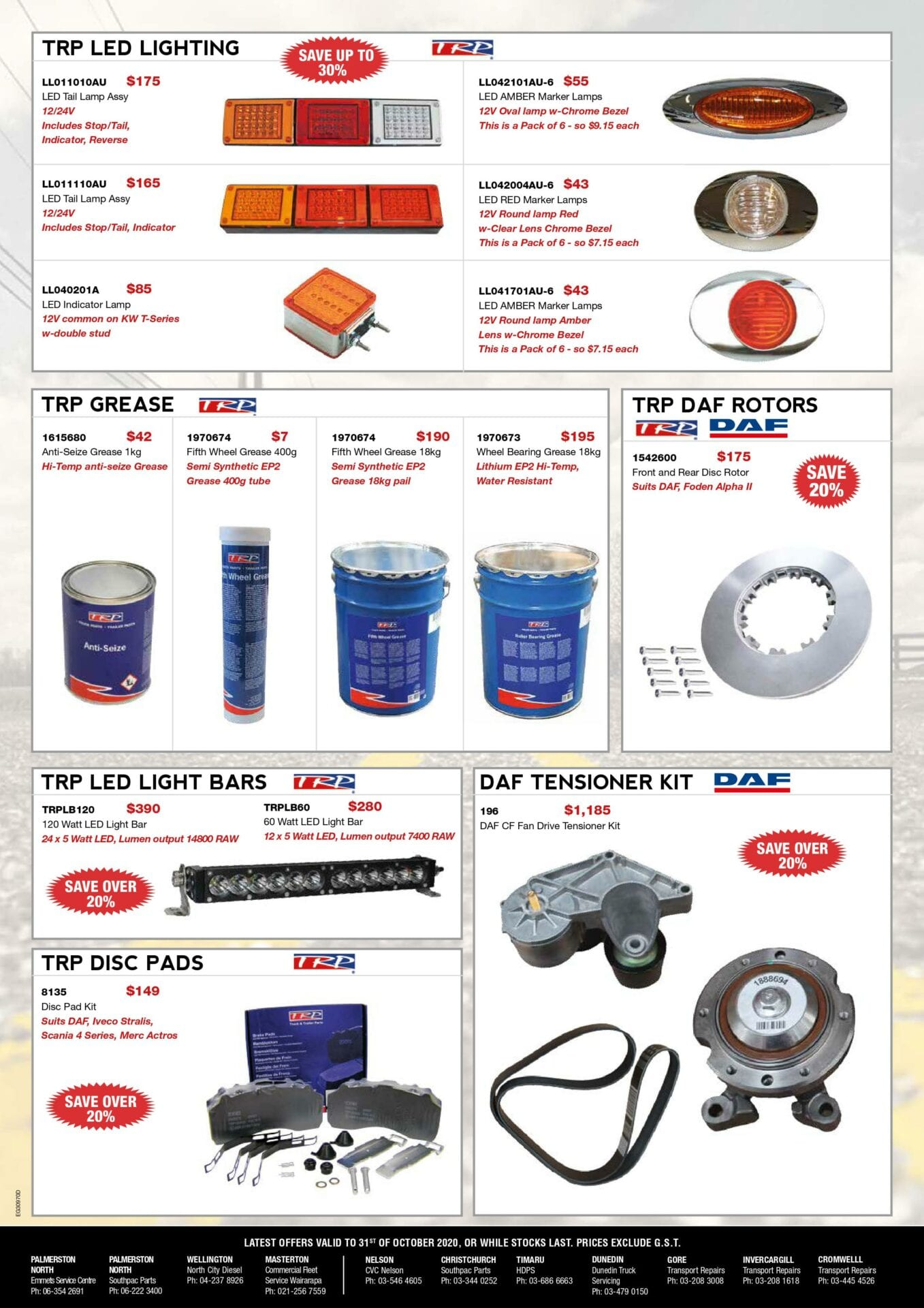 LATEST OFFERS advert – October 2020 (pg4)